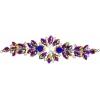 Crystal Motifs Floral 18cm Purple/cognac Aurora Borealis/gunmetal